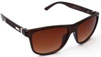 Puma Prada Cross Classic Brown Wayfarer Sunglasses