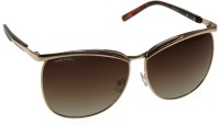 Mango Pickles Bling On Oval Sunglasses Brown