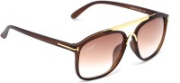 Amaze Medium Brown Oval Sunglasses