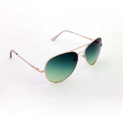 Elligator Elligator Aviator Sunglasses (Green)