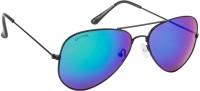 Glitters Fashionable Blue::Green Aviator Sunglasses