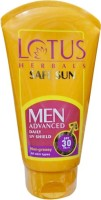 Lotus Herbals Safe Sun Men Advanced UV Shield - SPF 30 PA+ (100 G)