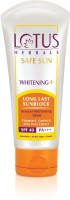 Lotus Safe Sun Whitening+ Long Last Sun Block - SPF 40 PA+++ (100 G)