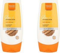 Vlcc Glow+ Sun Block Lotion Pack Of 2 - SPF 20 PA++ (200 Ml)