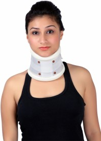 Modern Medical Aids Cervical Collar Hard Ajustable Neck Support (S, White)
