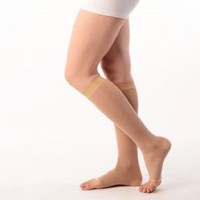 Vissco Platinumssion Stockings Corset Knee Length Medical Comp Class-2 Knee, Calf & Thigh Support (L, Brown)