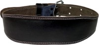 Maizo Genuine Leather Weight Lifting Belt Waist Support (L, Black, Brown)