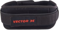 Vector X Weight Lifting Belt Back Support (Free Size, Black)
