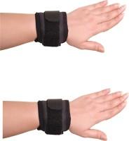 Applikon Combo Of Wrist Band Wrist Support (Free Size, Black)