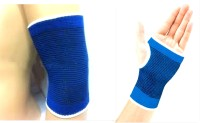 99dailydeals R75 Combo Of 2 Palm And Elbow Support For Gym Jogging Exercise Muscle Pain Health (Free Size, Blue)