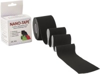 Nano-Tape Cotton Kinesiology Knee, Calf & Thigh Support (Free Size, Black)