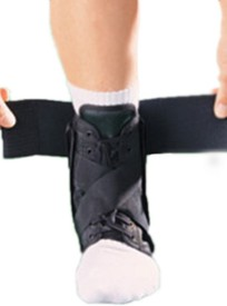 Oppo ANKLE SUPPORT W/STRAYS Ankle Support (L, Black)