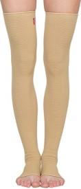 Flamingo Premium Vericose Vein Stocking Knee, Calf & Thigh Support (XL, Beige)