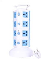 Chkokko 4 Layer Extension Tower With Handel And 2 USB Ports 15 Single Adapter Surge Protector (Blue)