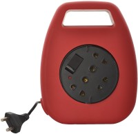 Alex 6A 2 Pin Plug Socket 5 Meter Long Electrical Extension Cord (with 3 Two Pin & 2 Three Pin Socket), Red 2 Strip Surge Protector (Red)