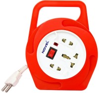 Novel 2 Pin Flex Box 4 Meter (with Handle, Indicator And International Socket) 3 Strip Surge Protector (Red)