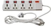 Citra Power Strip 4plus4 4 Strip Surge Protector (White)