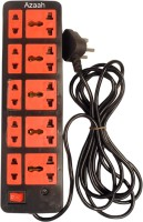 Tjaggies REd 10 Socket Power Strip Extension Board 10 Wall Mount Surge Protector (Multicolor)