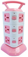 Gadget-Wagon 3 Layer With 12 Sockets Multidirection 12 Strip Surge Protector (Pink)