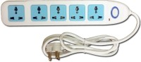 Super-IT 5 Way 10 Amps Universal 5 Strip Surge Protector (White)