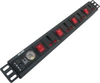 MX 4 Sockets 15 AMPERES Surge& Spike Buster With Universal And 1.5 Meters Power Cable 4 4 Strip Surge Protector (Black)