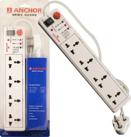Anchor 22047 4 Socket Single Switch Spike Guard