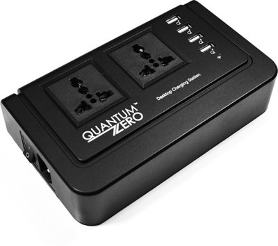 QuantumZERO QZ-WC04 Desktop Charging Station 6 Strip Surge Protector