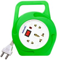 Novel 2 Pin Flex Box 4 Meter (with Handle, Indicator And International Socket) 3 Strip Surge Protector (Green)