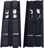 Winsome Deal X- Back Suspenders For Men Grey, Blue