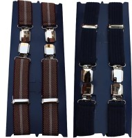 Winsome Deal X- Back Suspenders For Men Multicolor, Blue