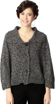 People Woven Round Neck Casual Women's Sweater