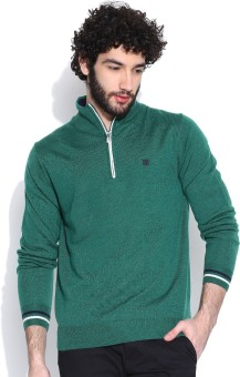 Lee Solid Turtle Neck Casual Men's Sweater - SWTEDNUUKU5GC67M