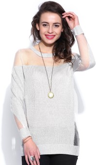 D Muse By Dressberry Solid Round Neck Casual Women's Sweater - SWTE8GN7RQYK7ZVG