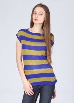 Remanika Striped Round Neck Casual Women's Sweater: Sweater
