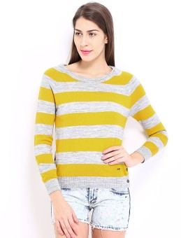Pepe Jeans Striped Round Neck Casual Women's Sweater