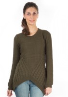 Again Solid Round Neck Casual Women's Sweater - SWTDXZF6HGVYG8WG
