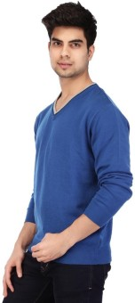 Acropolis By Shoppers Stop Self Design V-neck Casual Men's Sweater - SWTEBPVFHH44FZWQ