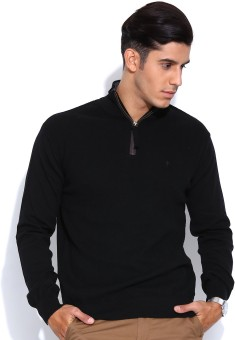 Indian Terrain Solid V-neck Casual Men's Sweater - SWTEBJBPXZCKXANA