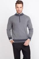 ALX New York Striped Turtle Neck Casual Men's Sweater