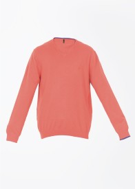 United Colors of Benetton Solid V-neck Casual Men's Sweater