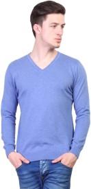 Kalt Solid V-neck Casual Men's Sweater