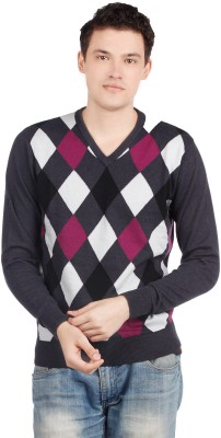 Ashworth Argyle V-neck Casual Men's Sweater