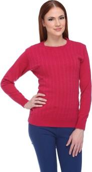 Club York Solid Round Neck Casual Women's Sweater - SWTE9S6EM4FAGCFP