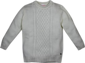 FS Mini Klub Solid Round Neck Casual Girl's Sweater