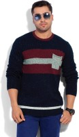 Quiksilver Striped Round Neck Casual Men's Sweater