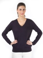 Again Solid Round Neck Casual Women's Sweater - SWTDXZF6BCG8XCZS