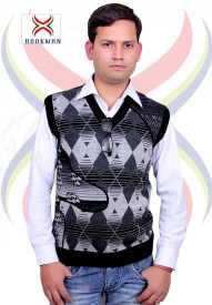 BOOKMAN Printed V-neck Formal Men's Sweater