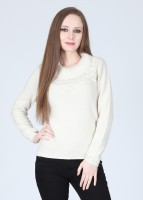 Wills Lifestyle Solid Turtle Neck Casual Women's Sweater