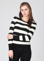 Van Heusen Striped Round Neck Casual Women's Sweater