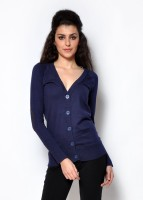 Fashley London Solid V-neck Casual Women's Sweater